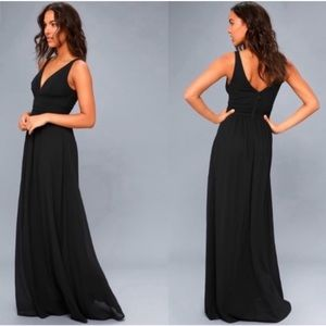 NWOT Lulu's black maxi dress (various sizes)